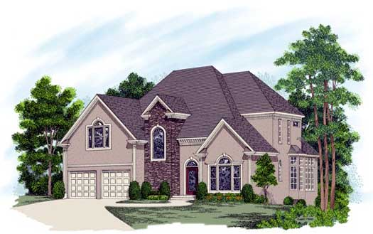 Traditional Style Home Design 4-233