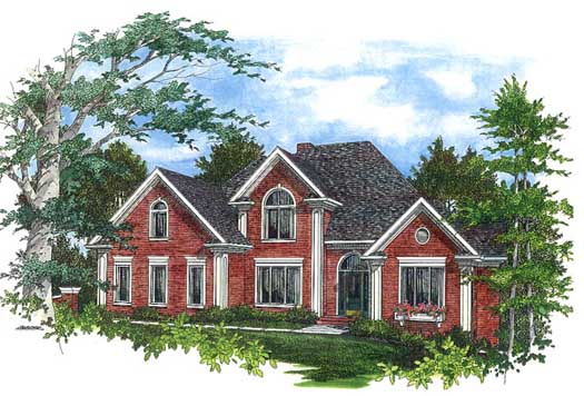 Traditional Style Home Design Plan: 4-234