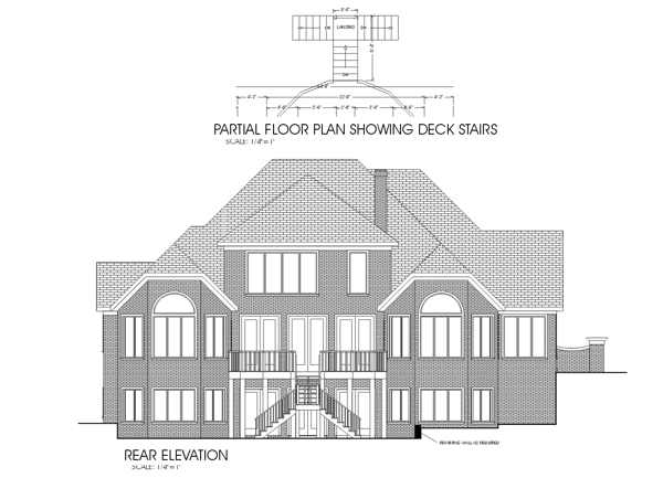 Rear Elevation Plan: 4-234