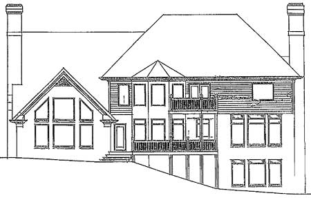 Rear Elevation Plan: 4-235