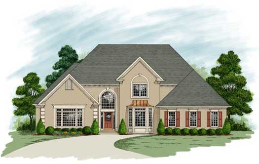 Traditional Style Home Design Plan: 4-236
