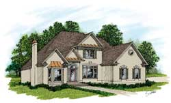 Traditional Style House Plans Plan: 4-239