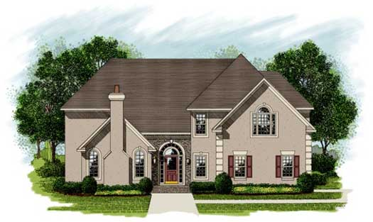 Traditional Style Home Design Plan: 4-240