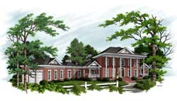 Southern-Colonial Style Floor Plans Plan: 4-241