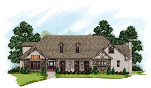 Traditional Style Home Design Plan: 4-243