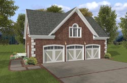 Country Style Home Design Plan: 4-246