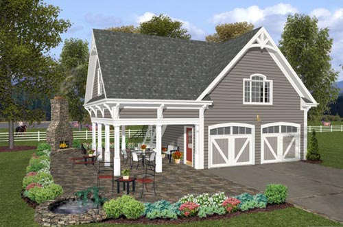 Country Style Home Design Plan: 4-249