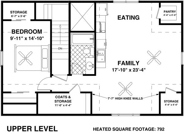Upper/Second Floor Plan: 4-249