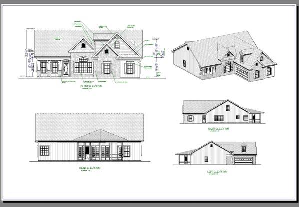 Rear Elevation Plan: 4-252