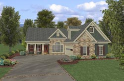 Traditional Style Home Design Plan: 4-252