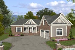 Traditional Style Home Design Plan: 4-253
