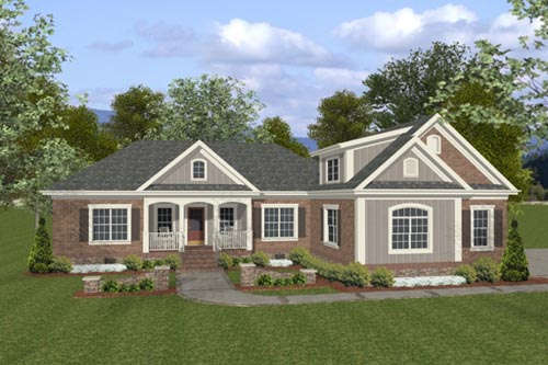 Traditional Style Home Design Plan: 4-255