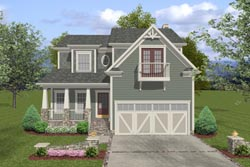 Bungalow Style Home Design Plan: 4-257