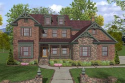 Craftsman Style Floor Plans Plan: 4-258