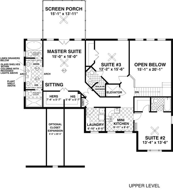 Upper/Second Floor Plan: 4-259
