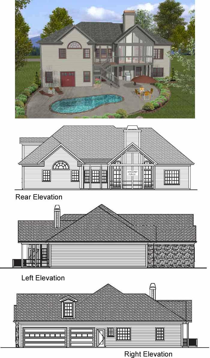 Rear Elevation Plan: 4-260