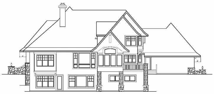 Rear Elevation Plan: 4-261