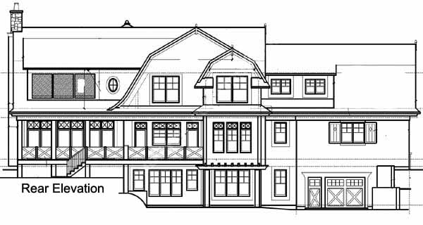 Rear Elevation Plan: 4-262