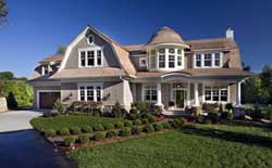Hampton Style Home Design Plan: 4-262