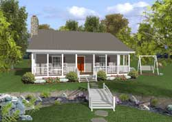 Country Style Floor Plans Plan: 4-268