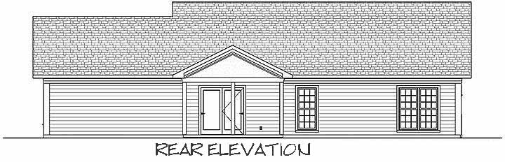 Rear Elevation Plan: 4-275