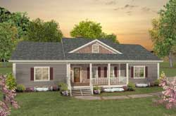 Country Style Home Design Plan: 4-278