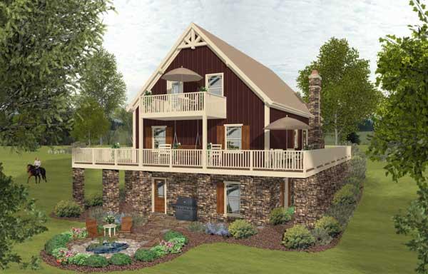 Rear Elevation Plan: 4-281
