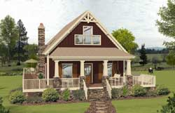 Cottage Style Home Design Plan: 4-281