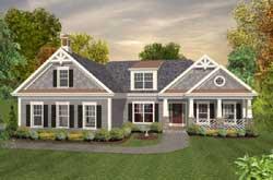 Craftsman Style Home Design Plan: 4-283