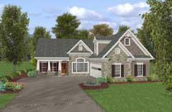 Craftsman Style Home Design Plan: 4-287