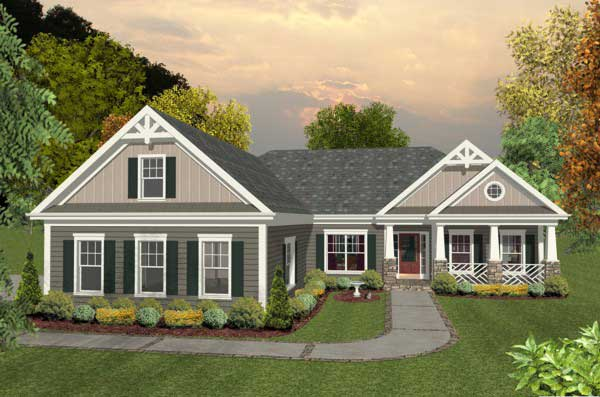 Craftsman Style House Plans Plan: 4-289