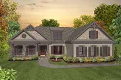 Craftsman Style Home Design Plan: 4-291
