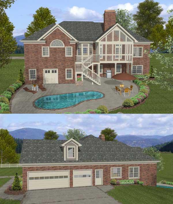 Rear Elevation Plan: 4-302