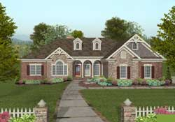 Southern Style Home Design Plan: 4-302