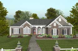 Southern Style Home Design Plan: 4-304