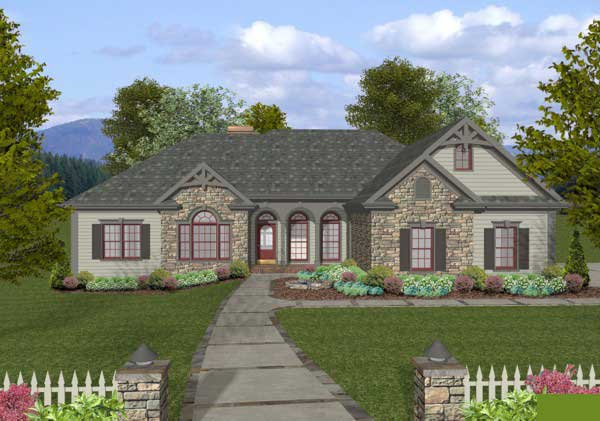 Southern Style Home Design Plan: 4-305