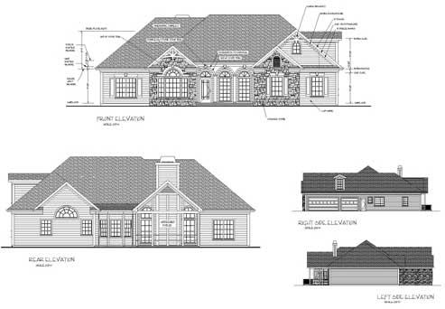 Rear Elevation Plan: 4-305