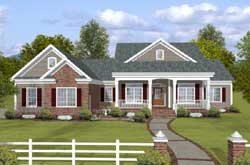 Country Style Home Design Plan: 4-307