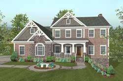 Craftsman Style Home Design Plan: 4-312