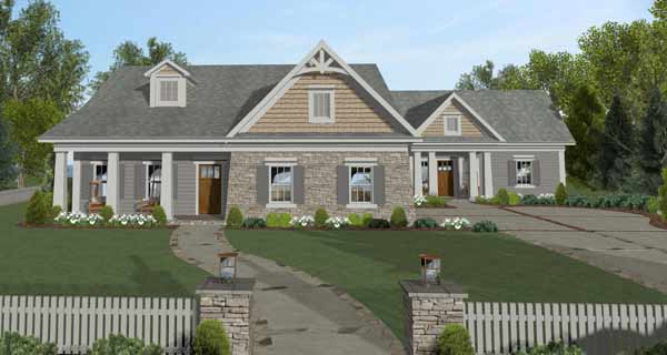 Craftsman Style Home Design Plan: 4-320