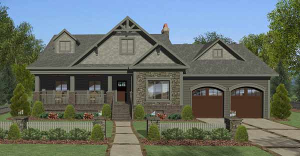 Craftsman Style House Plans Plan: 4-321
