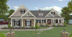Country Style Floor Plans Plan: 4-322