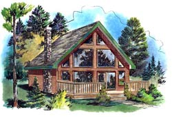 Contemporary Style House Plans Plan: 40-116