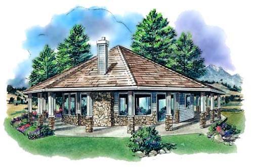 Contemporary Style Home Design Plan: 40-117