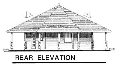 Rear Elevation Plan: 40-117