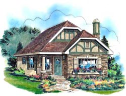English-Country Style Floor Plans Plan: 40-122