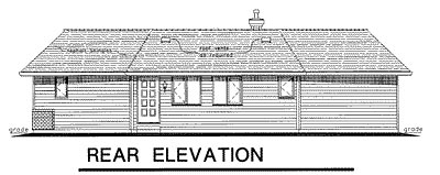 Rear Elevation Plan: 40-124