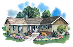 Traditional Style Home Design Plan: 40-124