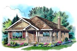 Country Style Home Design Plan: 40-139