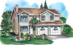 Traditional Style Home Design Plan: 40-154